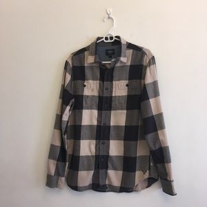 American Eagle Outfitters Navy Flannel Shirt